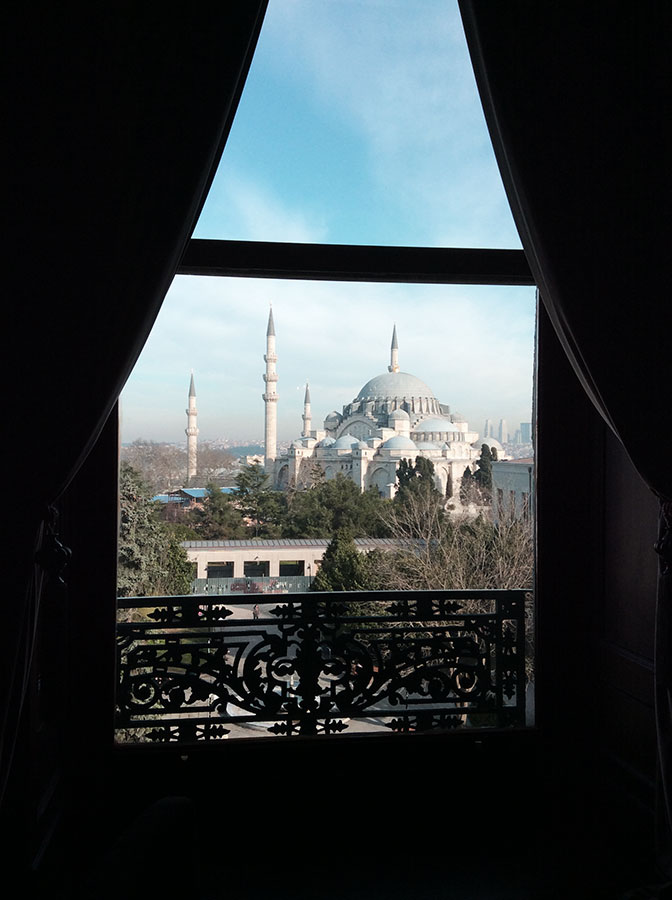 View of the Süleymaniye mosque from the meeting room