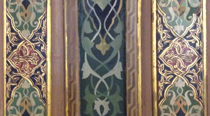 Detail of wall in the ornate meeting room
